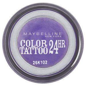 Maybelline oční stíny Color Tattoo 24hr Endless Purple 15 - netDrogerie