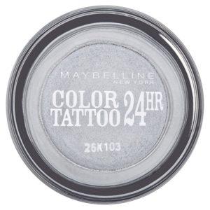 Maybelline oční stíny Color Tattoo 24hr  Eternal Silver 50 - netDrogerie