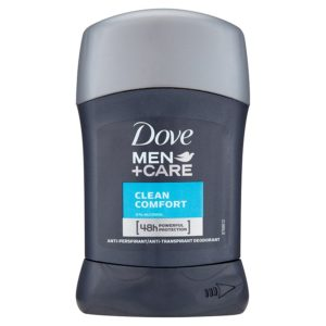 Dove Men+Care Clean Comfort tuhý antiperspirant pro muže 50 ml - netDrogerie