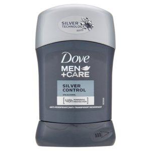 Dove Men+Care Silver Control tuhý antiperspirant 50 ml - netDrogerie