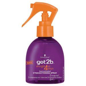 got2b straight on 4 days sprej na žehlení vlasů 200 ml - netDrogerie