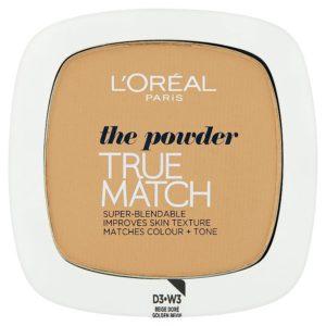 L'Oréal Paris True Match Golden Beige W3 pudr 9 g - netDrogerie