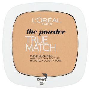 L'Oréal Paris True Match Honey W6 pudr 9 g - netDrogerie