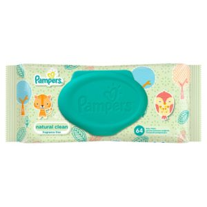 Pampers Ubrousky Natural Clean 64 ks - netDrogerie