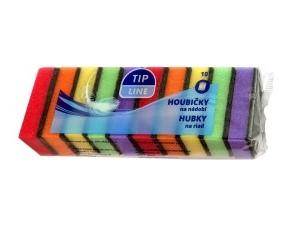 Tip Line barevné houbičky na mytí nádobí 10 ks 0746546ea6