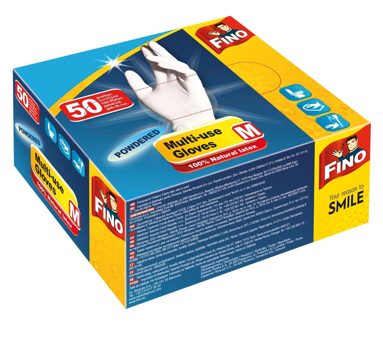Fino jednorázové rukavice pudrované M 50 ks a044b8c920
